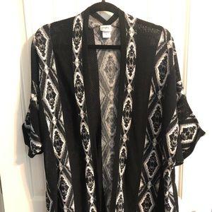 Black & White Knit Cardigan